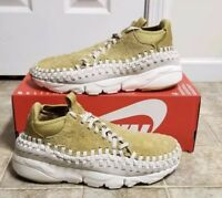 NIKE AIR FOOTSCAPE WOVEN CHUKKA QS 913929-700 FLAT GOLD OREWOOD DS SIZE 10.5
