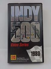 1980 Indianapolis 500 VHS Video Tape IndyCar Johnny Rutherford Jim Hall Racing