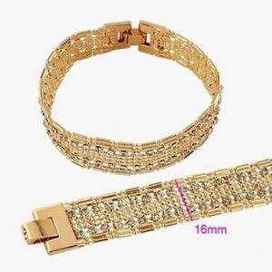 Armband Martinique, Metall-Legierung, Gold plattiert, Zirkonia, ca. 18,5 cm lang