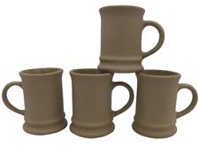 4 Hartstone Pottery Buff Stoneware Mugs Vintage AD Espresso or Child USA 1970s