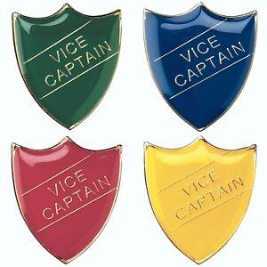 Vice Captain Shield Enamel Badges - Free Delivery