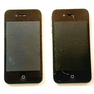 Apple iPhone 4 A1332 EMC 380B Black Lot of 2 Untested