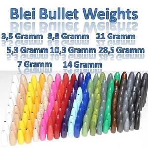 Blei Bullet Weights für TEXAS & CAROLINA RIG in allen Größen / vielen Farben