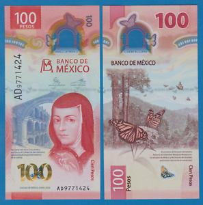 Mexico 100 Pesos P NEW 2020 UNC Polymer Low Ship! Combine FREE!