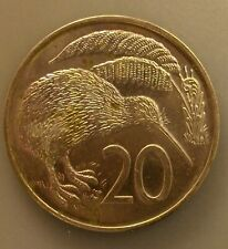 New listing New Zealand 20 Cents 1974 Unc Km#36.1