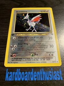 1st Edition Holo Skarmory Neo Genesis 13/111 Pokémon Card SWIRL 🔥