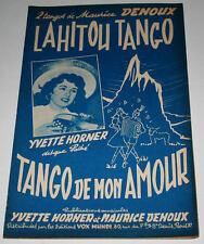 Partition vintage sheet music YVETTE HORNER : Lahitou Tango * Accordéon