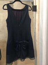 VERA WANG Navy Blue  Knee Length Formal Dress 8 Suit Bow