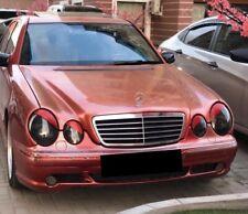 For Mercedes-Benz W210 S210 96-01 Headlight Eyelashes Cover Eyebrows Eyelids