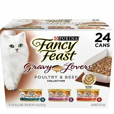 Fancy Feast Wet Cat Food, Gravy Lovers, Poultry & Beef Variety Pack, 3Ounce