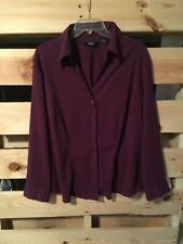 Allison Morgan purple button down blouse shirt 1X