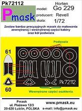 HORTEN Go-229 CANOPY PAINTING MASK TO REVELL KIT #72112 1/72 PMASK