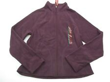 MERONA Women's Size XS Zip Up Fitted Purple Fleece Jacket NEW