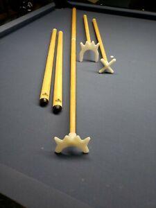 "Pool Snooker Cue Rest Sticks With Bridge, High Bridge, Cross Rest Set 48"""