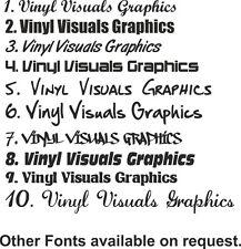 Boat Name X 2 - Vinyl Stickers Names Custom Decals Waterproof Graphics