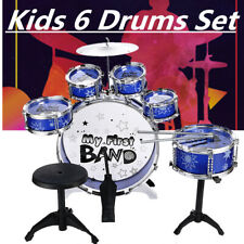 KINDERSCHLAGZEUG BLAU Kinder Trommel Drums Percussion Musikinstrument Spielzeug