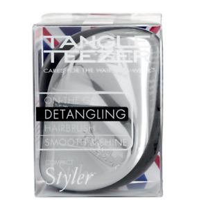 Tangle Teezer Compact Styler Silver Bush Detangling Hairbrush