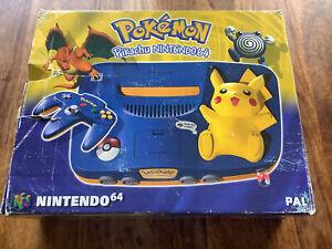 N64 Nintendo 64 Konsole Pokemon Pikachu PAL controller in OVP Boxed
