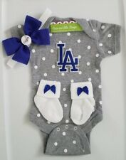 Dodgers infant/baby outfit girl Dodgers newborn girl Dodgers baby gift girl