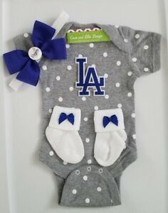Dodgers newborn/baby clothes girl Dodgers baseball girl Dodgers baby gift girl