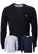 Lacoste Long Sleeve Plain Sweatshirts for Men
