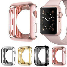 Apple Watch Series 3/2/1 TPU Bumper iWatch Screen Protector Case Cover 38mm/42mm
