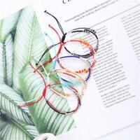 Boho Handwoven Multi-layer Colors Weave Round Beaded Bracelet Retro Jewelry---