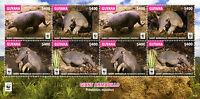 Guyana 2016 MNH Giant Armadillo WWF 8v M/S Armadillos Wild Animals Stamps
