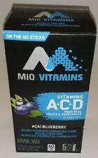MiO Vitamins ACAI BLUEBERRY Drink Mix, Vitamins A+C+D, 60 Cals, Natural, 10 Pkts