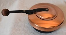 Metal FOOD WARMER Chafing dish fondue black and copper color wood knob