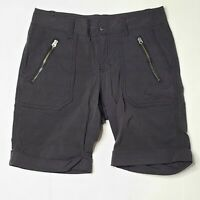 Athleta 0 Black Bermuda Bike Zipper Women's Nylon Blend Pocketed Shorts