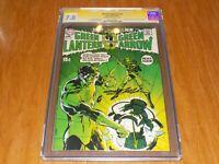 Green lantern #76 ~ CGC 7.0 signed by NEAL ADAMS ~ GL/Green Arrow stories begin