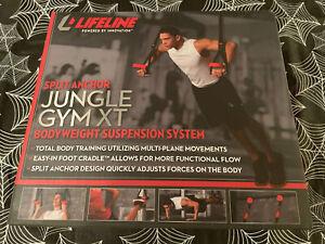 Lifeline Jungle Gym XT Bodyweight Suspension Fitness Trainer Resistance Straps