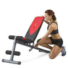 Workout Bench Press Adjustable Flat Incline Weight Exercise Chart Home Gym NEW