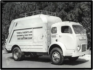 1953 White 3000 Garbage Trucks New Metal Sign: Town of Montclair, New Jersey