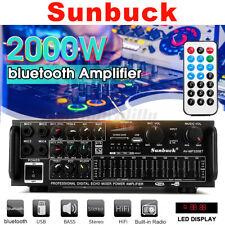 2000W HiFi Stereo Verstärker Bluetooth Digital Power Amplifier FM Verstärker DE