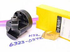Used Kennametal Interchangeable Boring Head H32 With 2pcs Ng5 Carbide Inserts
