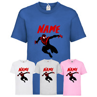 Personalised Children's Miles Morales T-Shirt Spider-Man Inspired Gaming Top New