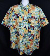 9a0138f2 Banana Republic Hawaiian Shirt Mens L Short Sleeve Button Front Geometric  Cotton