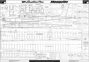 GRAUPNER MOSQUITO R/C GLIDER PAN SET