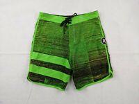 Hurley Board Shorts Adult Size 32 Men Phantom Green Black Striped Beach Surf