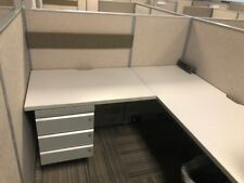 Used Office Cubicles, Haworth Unigroup Too 5x5 Cubicles