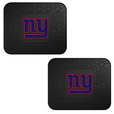NFL New York Giants Car Truck 2 Back Utility All Weather Rubber Floor Mats