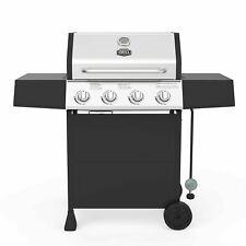 Expert Grill 4 Burner Propane Gas Grill Black BBQ Side Burner NEW - FREE SHIP !