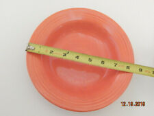 Old Vintage 1936 FIESTA RADIOACTIVE RED ORANGE GLAZE RIMMED SOUP BOWL FIESTAWARE