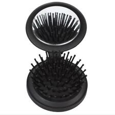 Women's Girl's Travel Folding Hair Brush With Mirror Convenient Pocket Size Comb