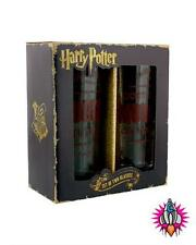 OFFICIAL HARRY POTTER SET OF 2 MUGGLES DRINKING GLASSES TUMBLERS NEW IN GIFT BOX