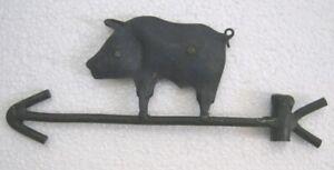 VINTAGE OLD IRON PIG WEATHER VANE . PIG WEATHERVANE