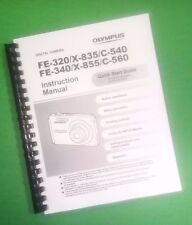 LASER PRINTED Olympus FE-320 X-835 C-540 Camera Manual User Guide 68 Pages.