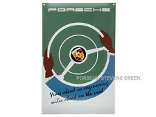 Porsche Classic Enamel Poster Sign Wall Art  Years Ahead In Engineering